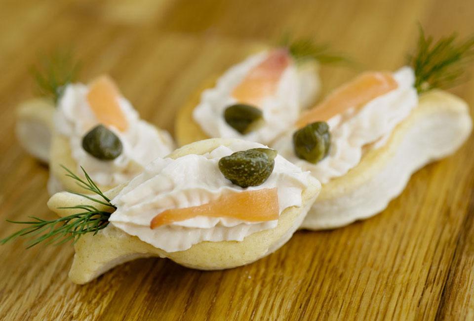 Canapés saumon fumé